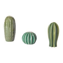 IKEA - SJÄLSLIGT, Decoration, set of 3, You can decorate your home with green plants without having to water them, since the cactuses are made from ceramic.
