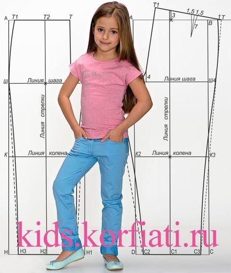 Брюки – очень удобная одежда не только для мальчишек, но и для девочек. Мы предлагаем вам сшить стильные брючки для вашей девочки. Выкройка брюк для девочки