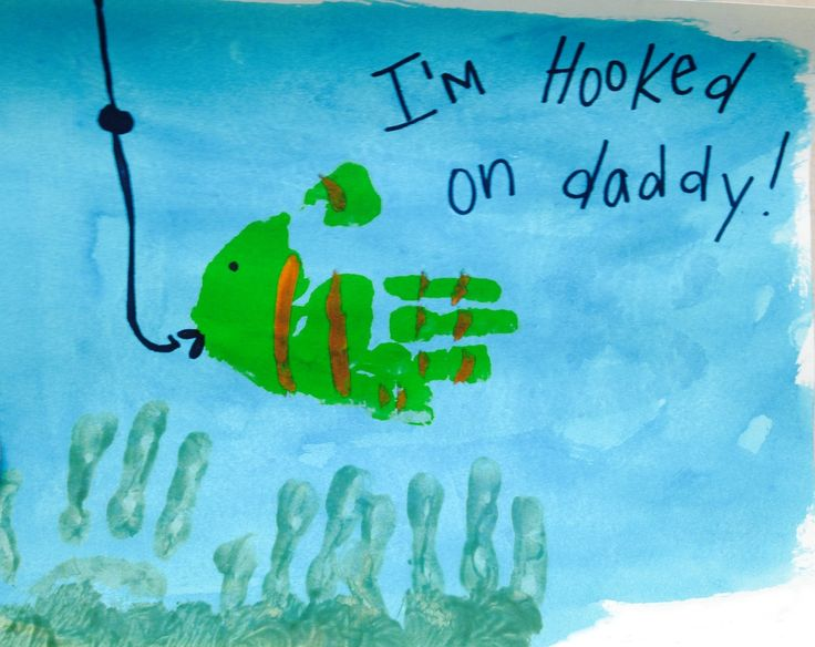Fathers Day Craft Fishing I'm Hooked on Daddy | Fathers ...