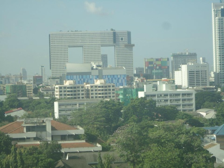 """The """"elephant building"""" in Bangkok, view from my hotel room"""