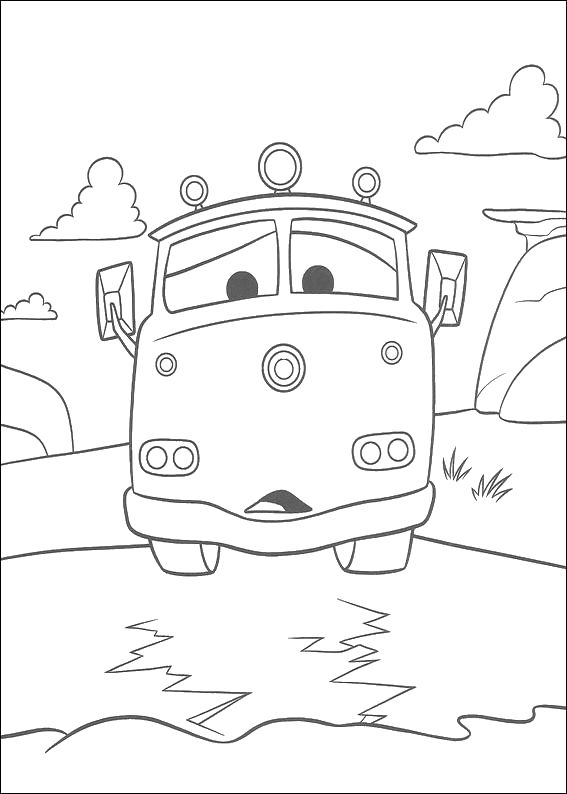 Disney Cars Printable Coloring Pages