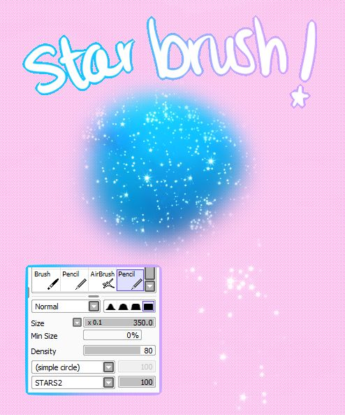 """shinuii: """"So i was thinking """"why haven't I seen any star brushes for sai? bc im too lazy to open up BULKY ol photoshop"""" and so i made my own! well making the pattern i used this image If people like..."""