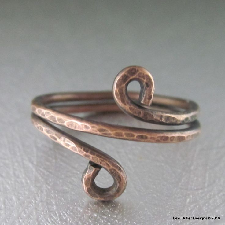 Copper Wire Wrap BOHO Chic Ring                                                                                                                                                                                 More