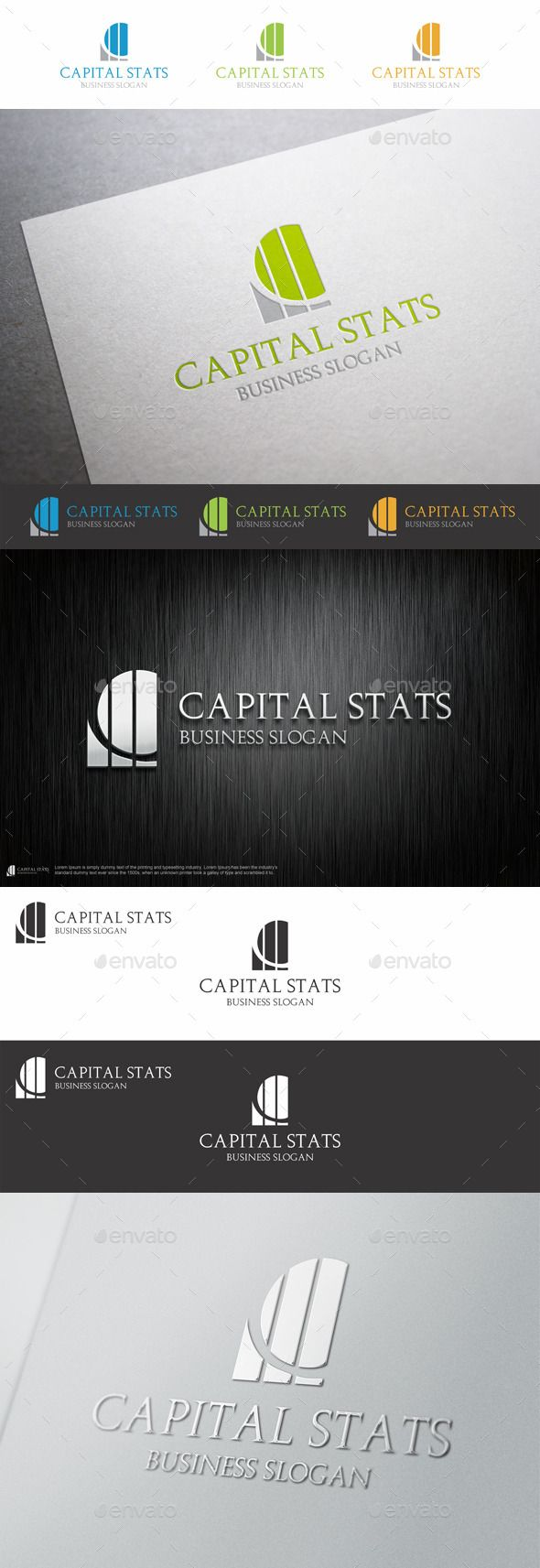 Logos with cc joy studio design gallery best design - Capital Stats C Letter Logo Chart Investment Financial Logo Is A