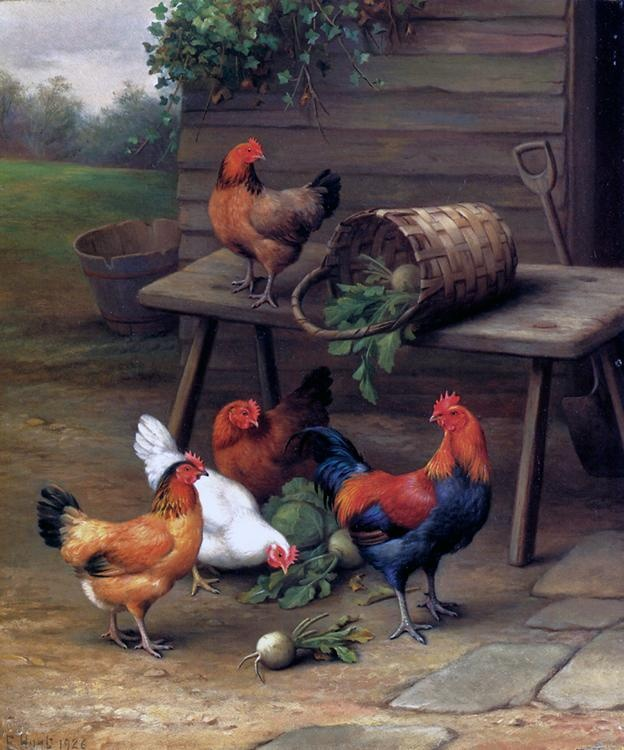 Hunt Edgar. Poultry In A Barnyard | #Animals