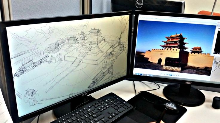 Every place in Shuyan's world is based off real Chinese architecture and culture.