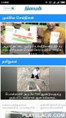 Dinakaran - Tamil News  Android App - playslack.com ,  Enjoy the award-winning journalism of Dinakaran, anywhere, with the enhanced Dinakaran app for Android - Dinakaran Newspaper, Circulated over 14 million copies and published from 12 centres in India namely Delhi, Mumbai, Chennai, Bangaluru, Madurai, Coimbatore, Trichy, Salem, Nagercoil, Vellore, Nellai and Puducherry. Dinakaran Mobile Apps provide you an opportunity to avail the newspaper's complete insight and also continuously updated…
