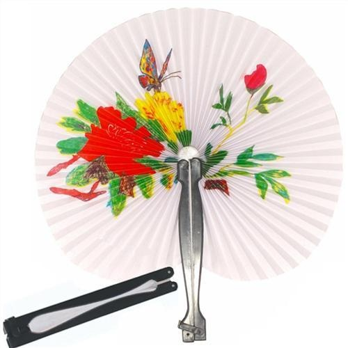 6 Paper Chinese Flower Fans