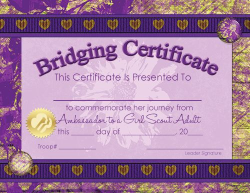 48 best ideas about girl scout certificates for girls on for Girl scout award certificate templates