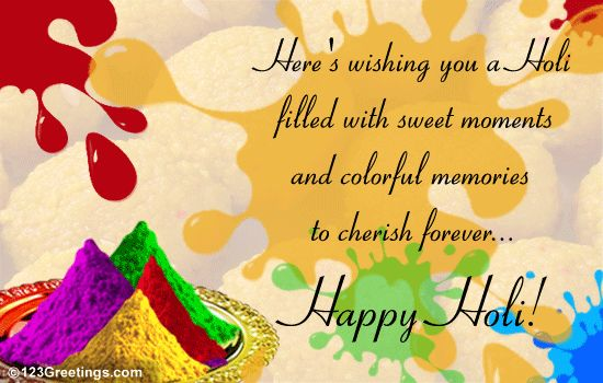 Best Holi, Dhuleti Celebration Wishes, Quotes, SMS and Wallpapers !