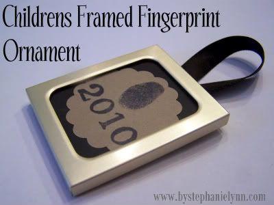Children's Framed Fingerprint Ornament