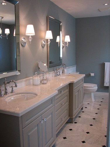 Solid surface bathroom countertops for a bath remodel