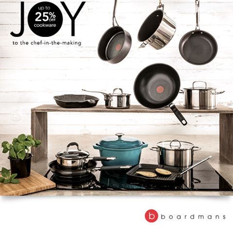 Transform your kitchen. Get up to 25% off Jamie Oliver appliances, cookware and kitchenware from Boardmans! Ends 14 December. Plus, more great deals in store or online - www.boardmans.co.za