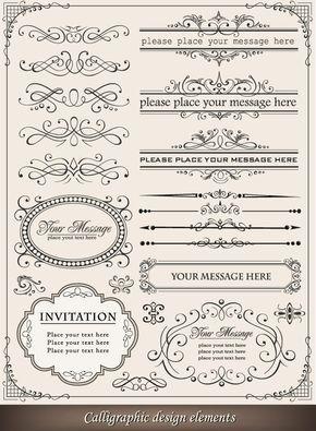 European-style-lace-border-vector-set