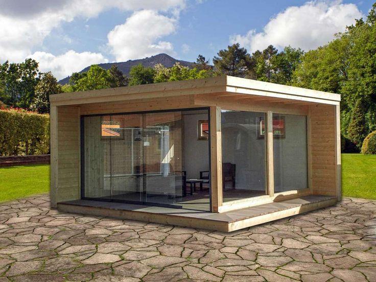 Premium luxushaus 500 x 500 cm neuheit 2015 konstruktion aus leimholz 12 x 12 cm mit d mmung - Container gartenhaus ...