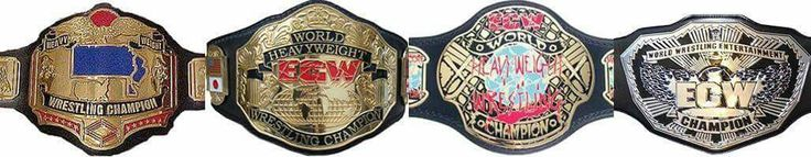ECW World Heavyweight Championship through the years