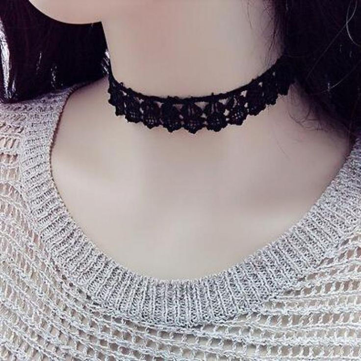 Cheap New 2016 Summer Men Love Black Jewelry Tattoo Lace Crew Neck Collar For Women Gift Jewelry Chain An Exo Direction
