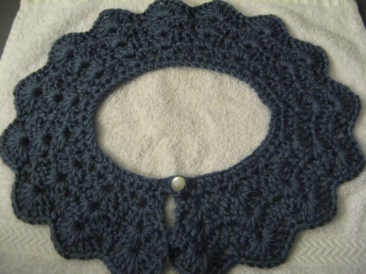 This is a quick and easy tutorial on how to crochet this beautiful peter pan collar. You use the yarn of your choice. The stitches on this collar give it a l...