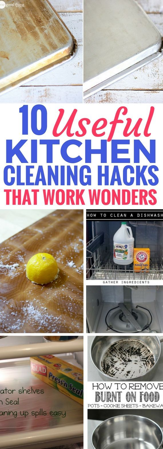Totally loving this kitchen cleaning hacks post that takes you through the BEST ways to clean your kitchen and show you some neat cleaning hacks you've been missing out on. Definitely worth trying these home hacks because it SAVES so much time and effort.