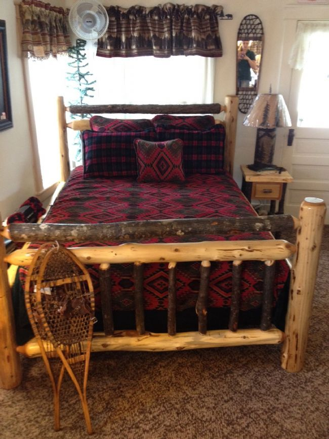 Adirondack Furniture by Adk Rustic Interiors Specializing in Log and Rustic Adirondack Furniture - Hickory & Cedar Log Bed