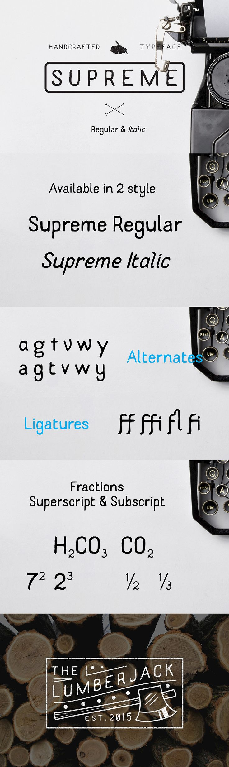Supreme Handcrafted Typeface Typeface, Handcraft
