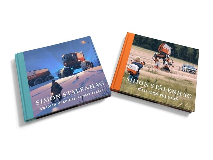 Simon Stålenhag's paintings from a childhood that never was and a future that could have been – collected in a two book volume.