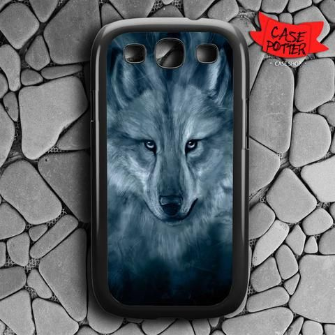 Wolf Painting Samsung Galaxy S3 Black Case