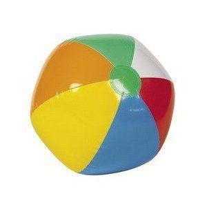 """12 Inflatable 12"""" Rainbow Color Beach Balls"""
