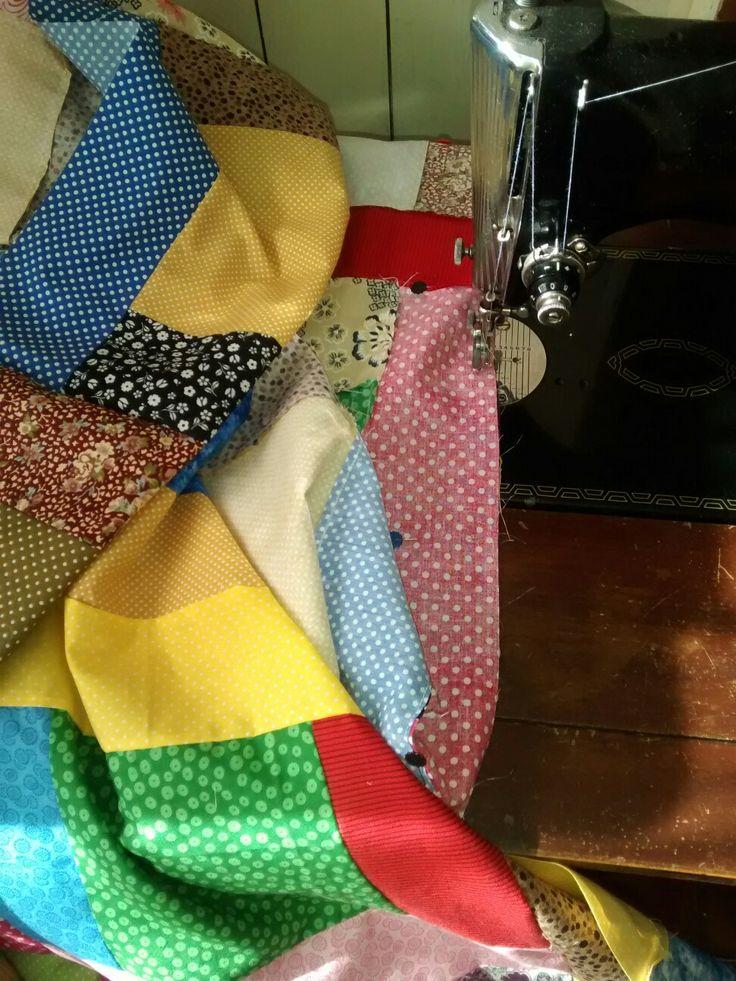 #blanket #patchwork #retalhos