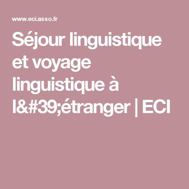 Séjour linguistique et voyage linguistique à l'étranger | ECI