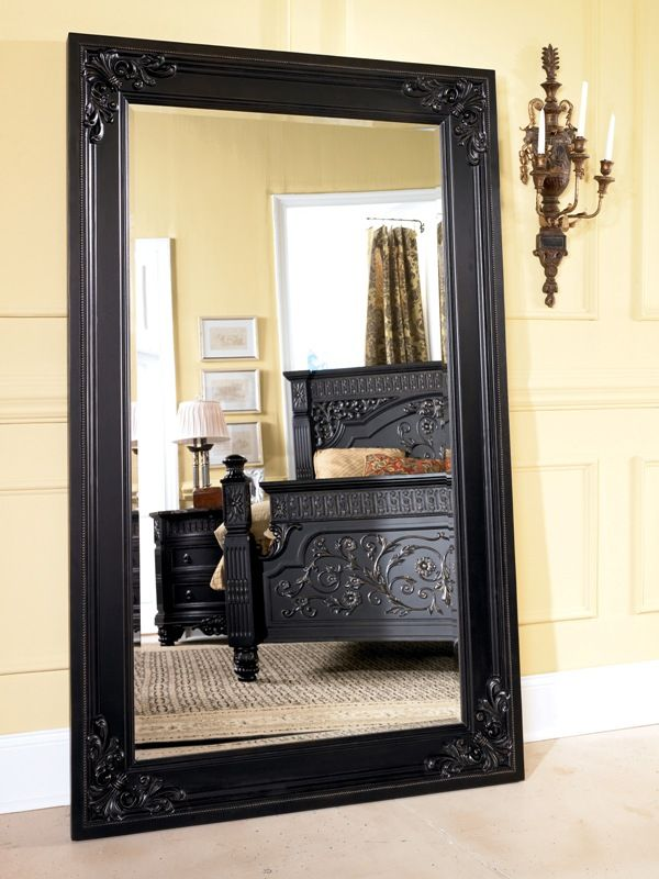 Ashley Furniture Britannia Collection Signature Home Old World Rose Framed Floor Mirror