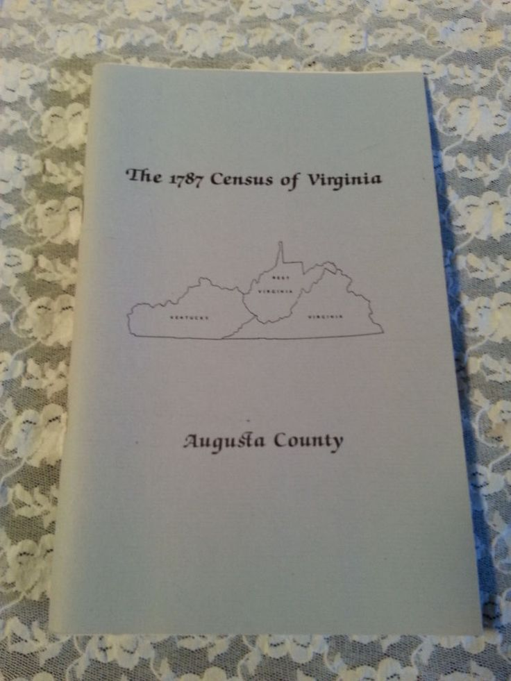 1787 CENSUS OF VIRGINIA-AUGUSTA COUNTY-PERSONAL PROPERTY TAX LISTS-1987 PRINTING