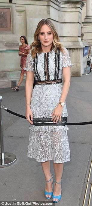but not with those shoes -->Other famous faces in attendance included Made In Chelsea star, Rosie Fortescue