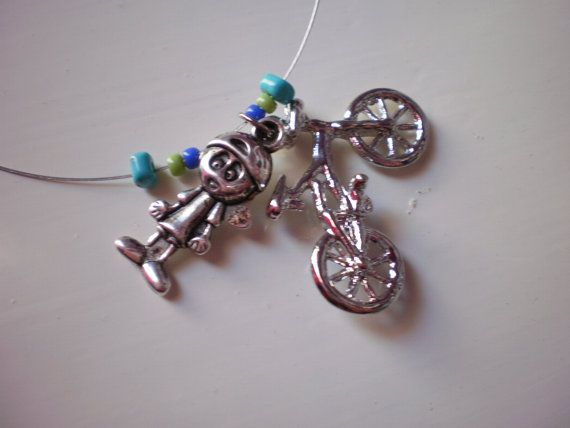 FREE SHIPPING boy and bike stainless steel by katerinaki106, $5.00