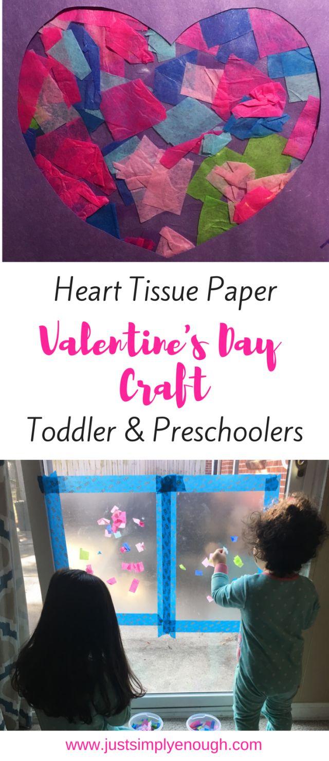 Heart Tissue Paper Valentine's day craft