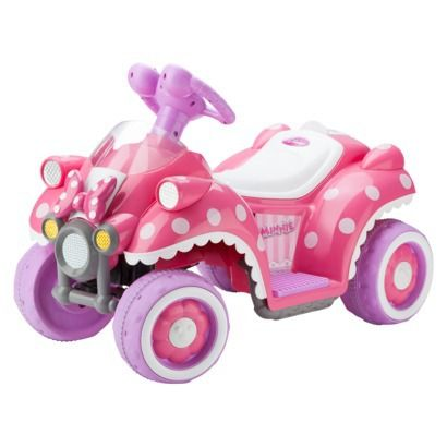 Kid Trax Disney Minnie Mouse 6V Quad Ride On. PERFECT for Sam!! (If only we had room for her to ride it).