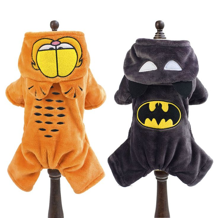 Winter warm Fleece small dog coat clothes jacket funny dog pet Garfield & Batman superhero Costume Coat Jumpsuit jumpers Hoodie #clothing,#shoes,#jewelry,#women,#men,#hats,#watches,#belts,#fashion,#style
