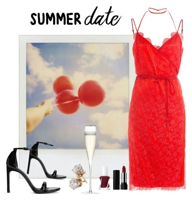 """date night"" by anabelisstyle ❤ liked on Polyvore featuring Polaroid, Nina Ricci, Stuart Weitzman, Kat Von D, Essie and LSA International"
