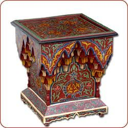 Moroccan Furniture Painted Desk With Chair   Stylehive