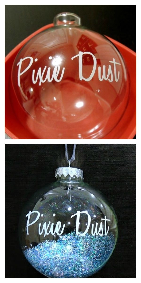 Create your own Pixie Dust ornament in two easy steps!