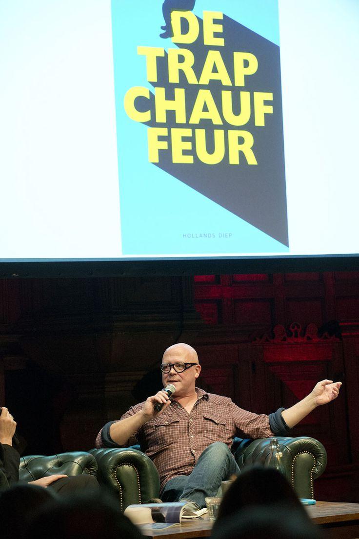 Marnix Peeters vertelt over 'De trapchaffeur' tijdens de lancering van Hollands Diep. ©Geert Snoeijer