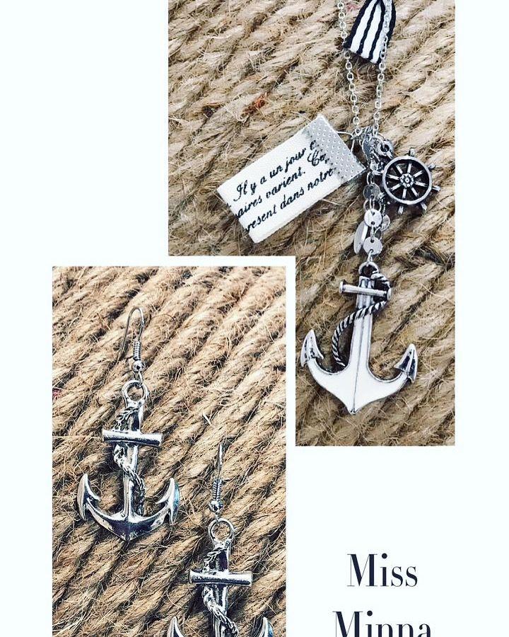 Buenos días☀️☀️☀️ Hoy os traemos este conjunto náutico marinero de anclas. Si os gusta a qué esperas: www.missminna.es  #missminna #bisuteria #complementos #collar #pendientes #anclas #nautica #marinero #primavera #marzo #tendencias