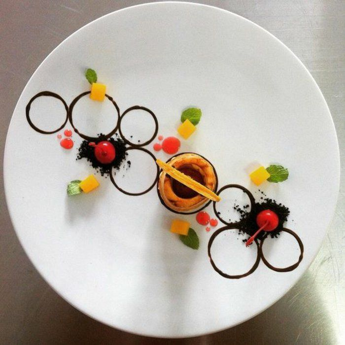 Quelle presentation dessert assiettе dessert gastronomique magnifique idée