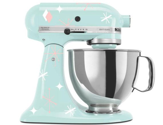 Stand Mixer Decal Retro Stars  Vinyl Sticker for by GoodMommyLtd,