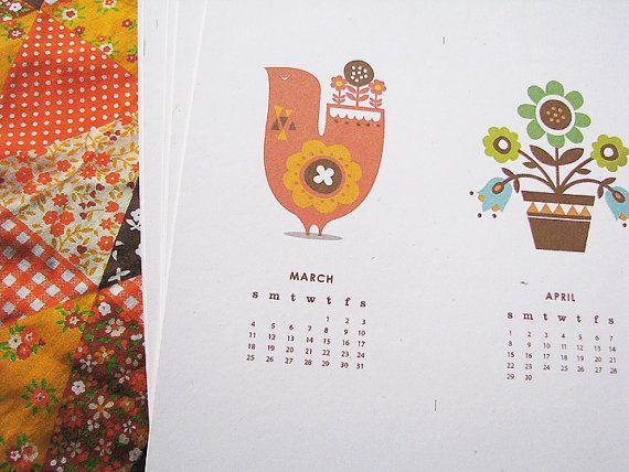 June Craft Mni Print Calendar 2012