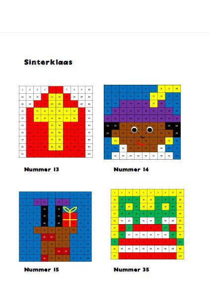 Honderdtabellen Sinterklaas