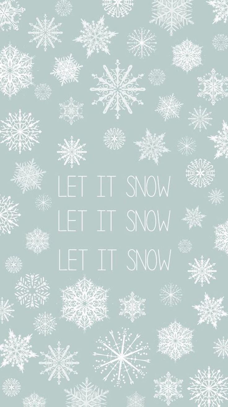 Let It Snow Winter Minimal iPhone 6 Wallpaper