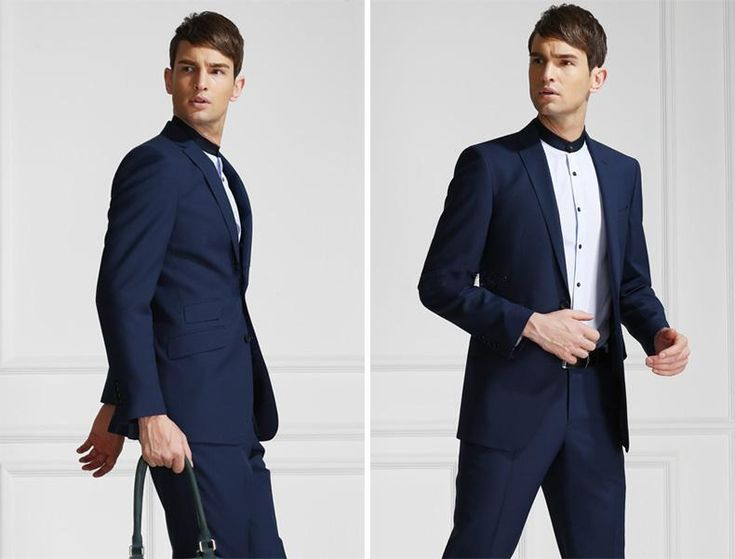 Custom Design Hot Sale Groom Tuxedos Notch Lapel Best Man Suit Dark Blue Groomsman Men'S Wedding/Prom Suits Jacket+Pants+Tie+GirdleA1037 Clothes For Mens Colorful Tuxedos From Cookyshop, $71.21| Dhgate.Com