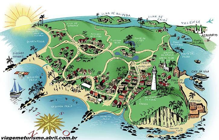 map of the island morro de sao paulo