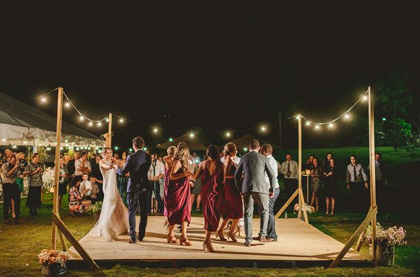 Dance Floor  http://hellomay.com.au/article/jane-tom-country-wedding-silver-sequin-bridal-gown-queensland-wedding-photographer/